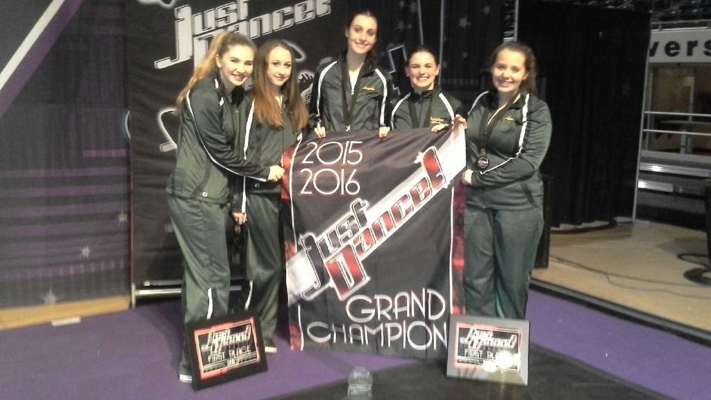 Dance Team holds JamFest banner