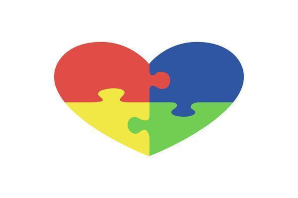 Special Education heart symbol')