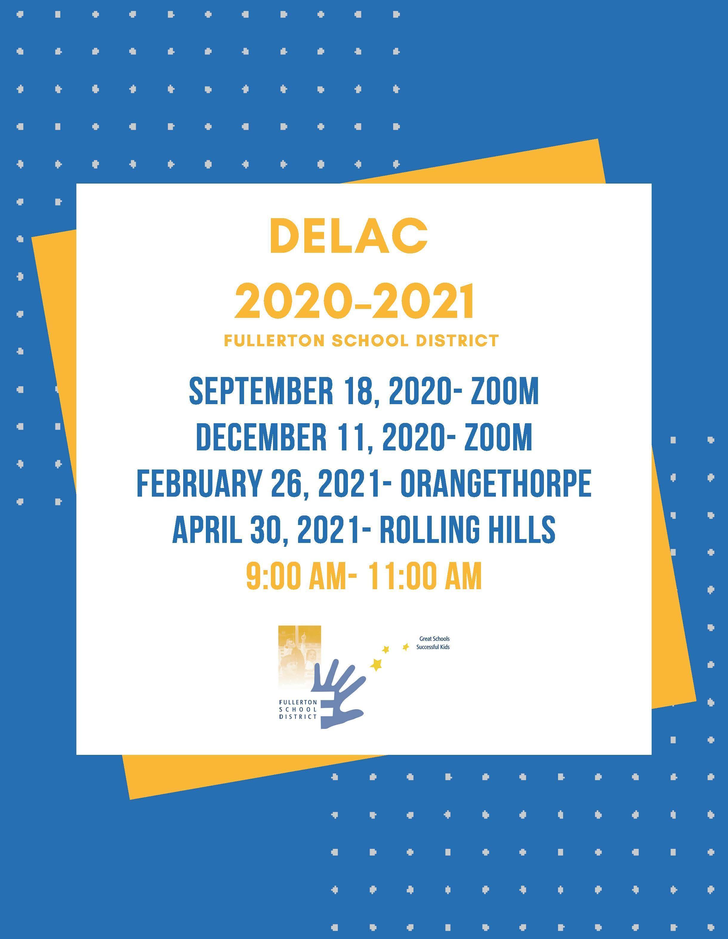 DELAC 20-21 Dates English