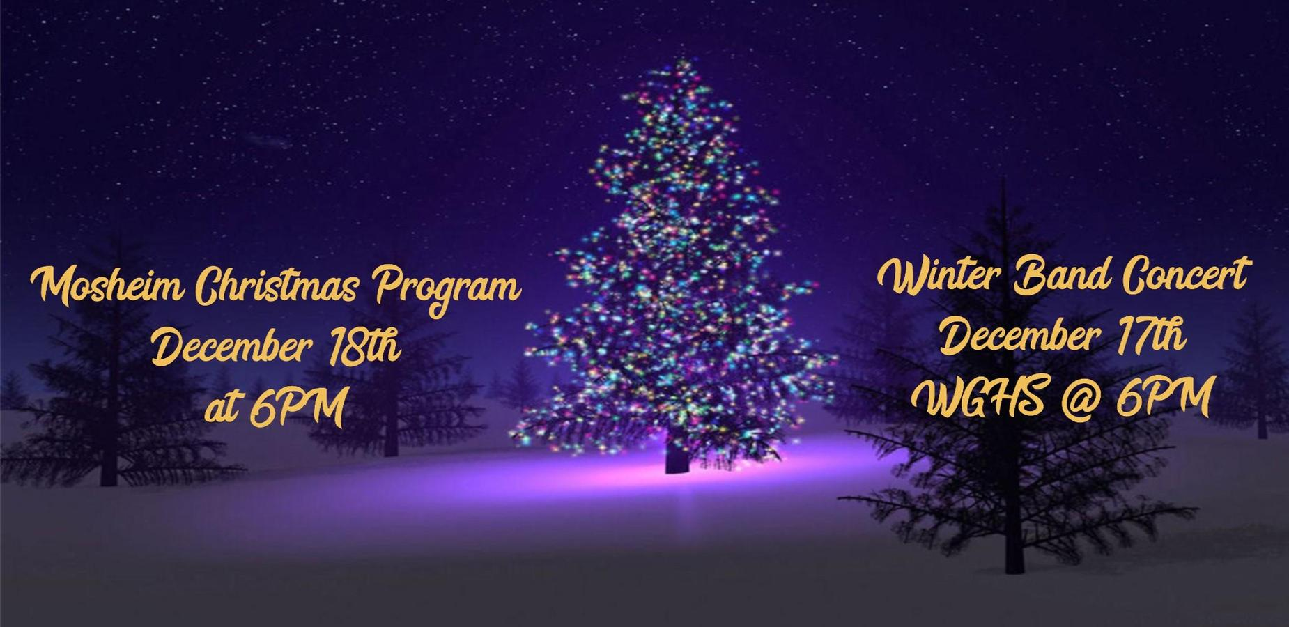 Mosheim Christmas Program