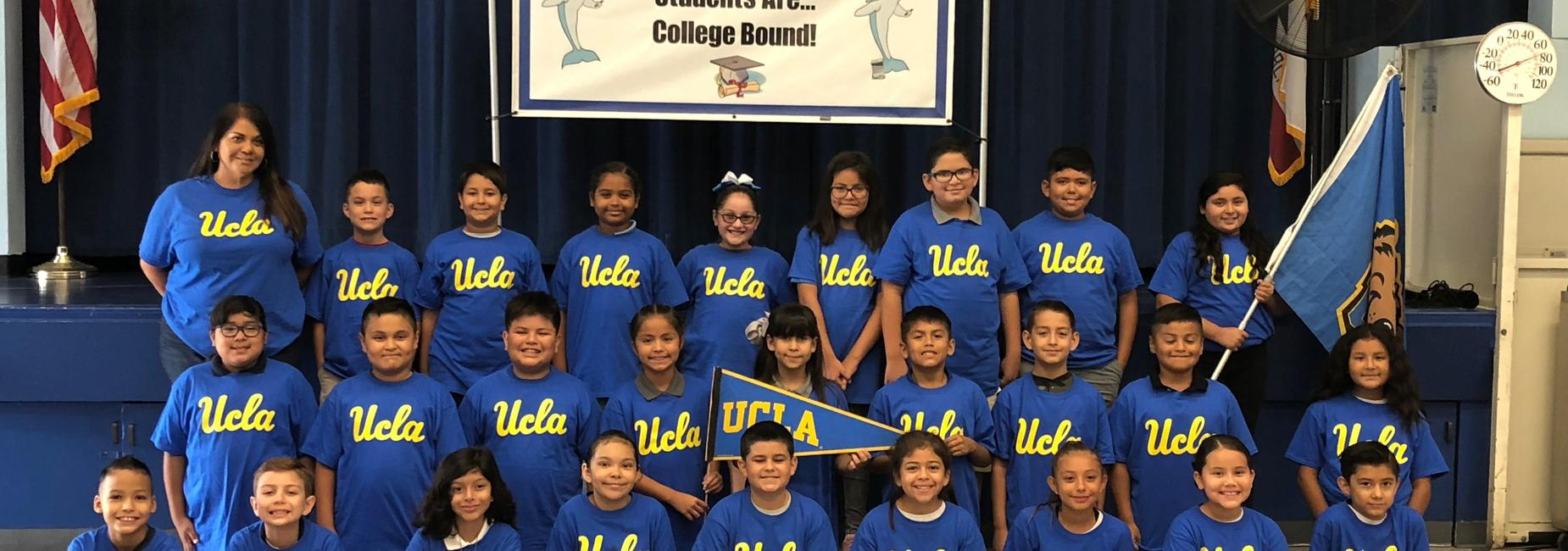 Students with UCLA College Shirts