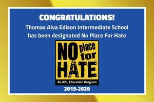 Photo of ADL No Place for Hate Certificate
