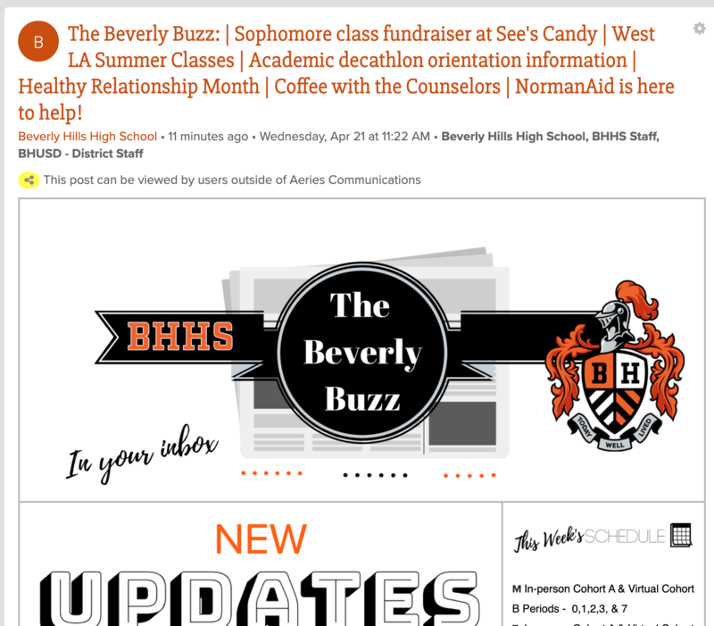 BHHS Newsletter - The Beverly Buzz - April 21, 2021