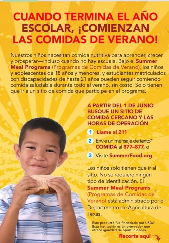 Summer Meals Begin - Spanish
