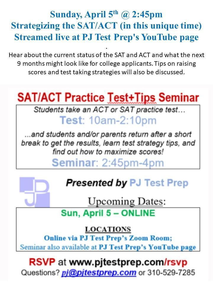 PJ Test Prep Seminar