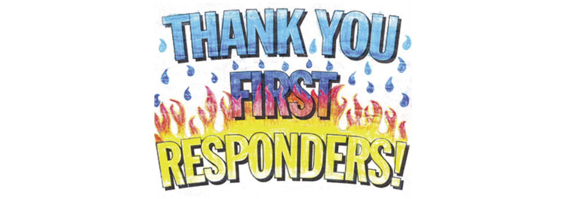 a thank you to first responders