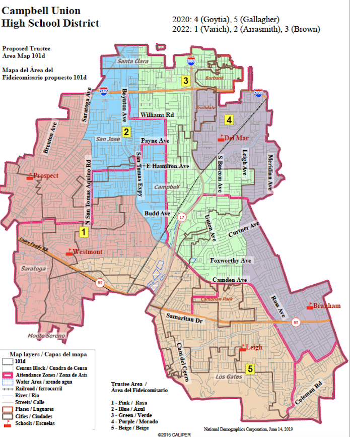 proposed trustee area map 101b