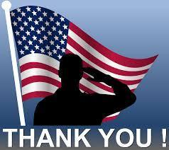 US flag and soldier Thank you