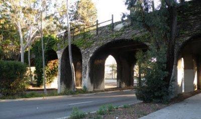 image of train bridge at Torrance Boulevard