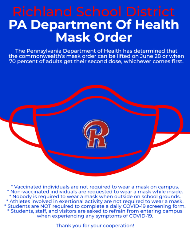 PA Department Of Health Mask Order - Through June 28th Featured Photo