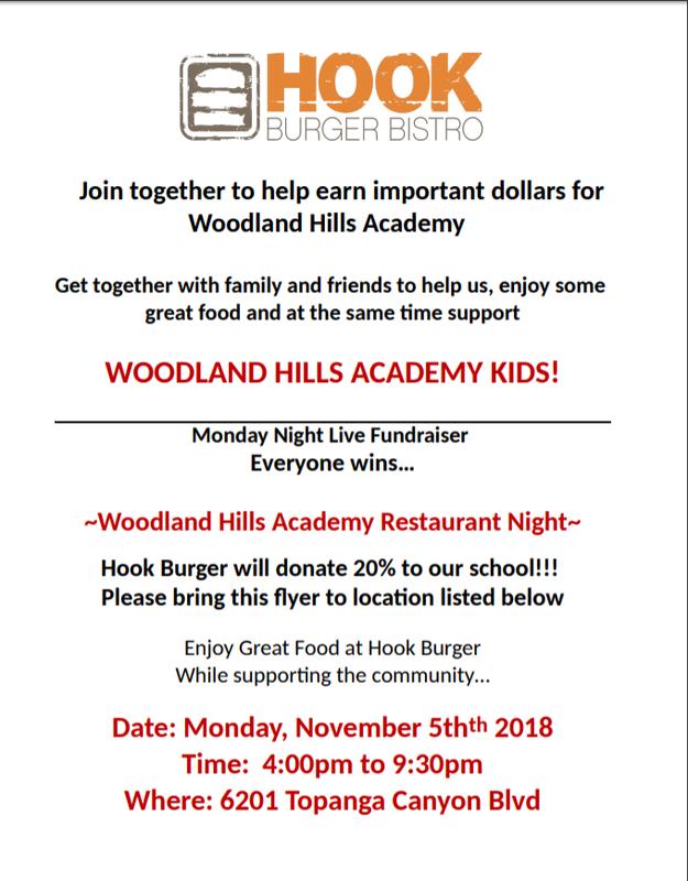 Come Support WHA - Restaurant Night at Hook Burger - Monday, November 5th Thumbnail Image