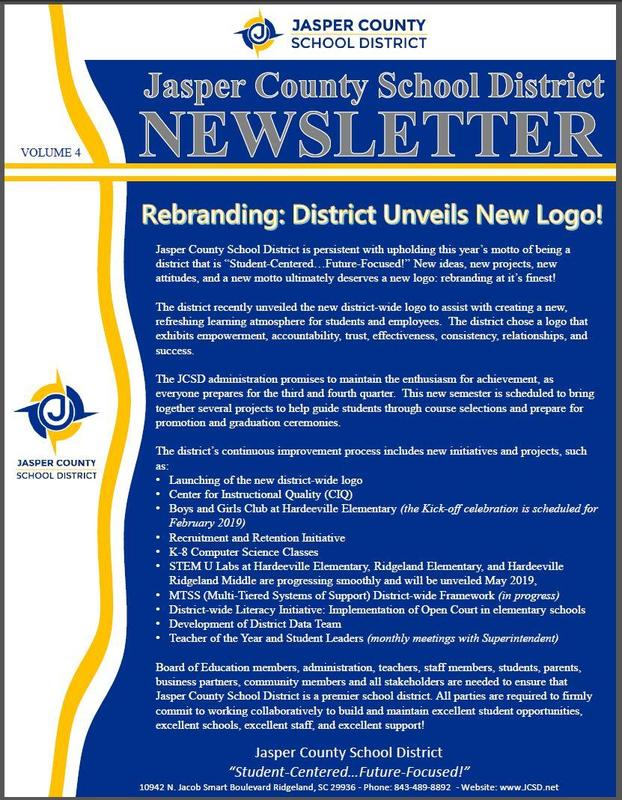 JCSD Newsletter - Volume 4