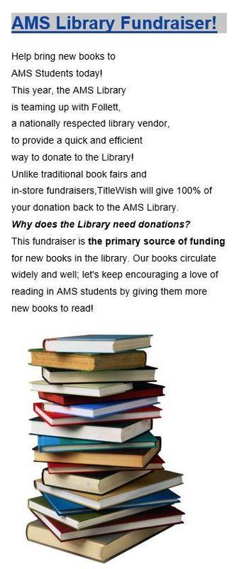 AMS Library Fundraiser