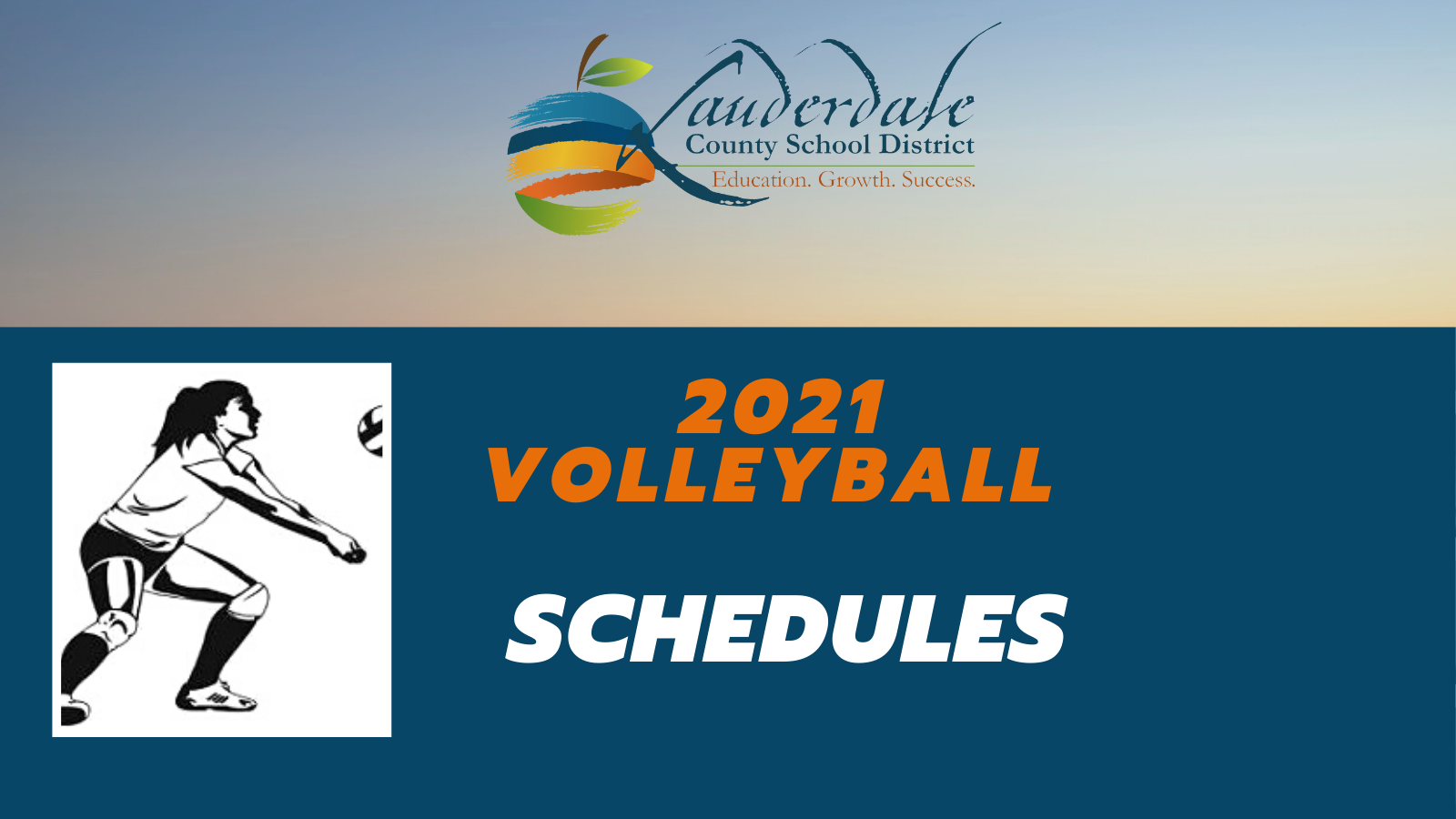 LCSD 2021 Volleyball Schedules Graphic