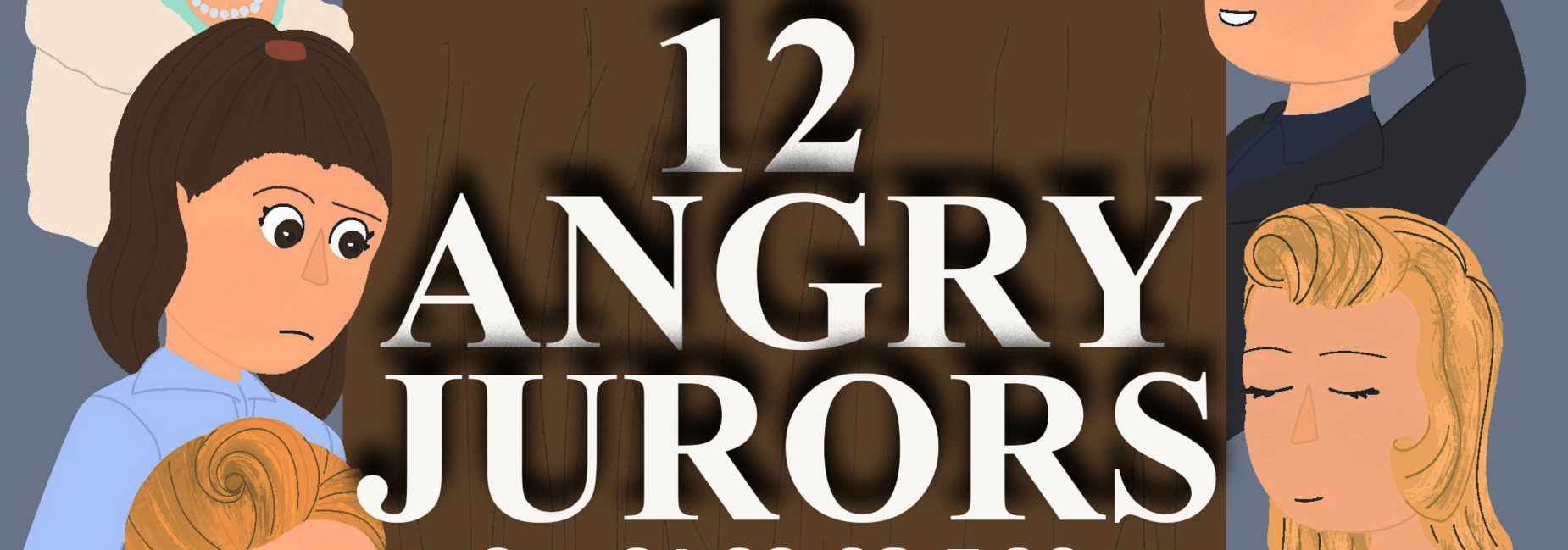 Fall play poster for 12 angry jurors