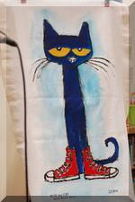 Pete the Cat finished painting