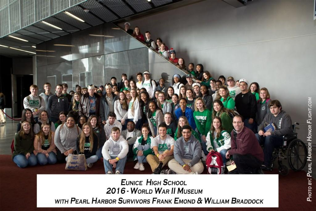 Eunice High Students at World War II Museum