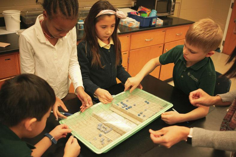 Inside an elementary science classroom at HudsonWay Immersion School