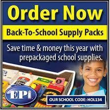 School Supplies order form