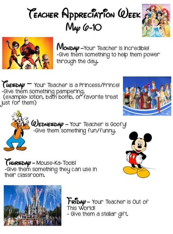 Teacher Appreciation Week May 6 - 10 Thumbnail Image