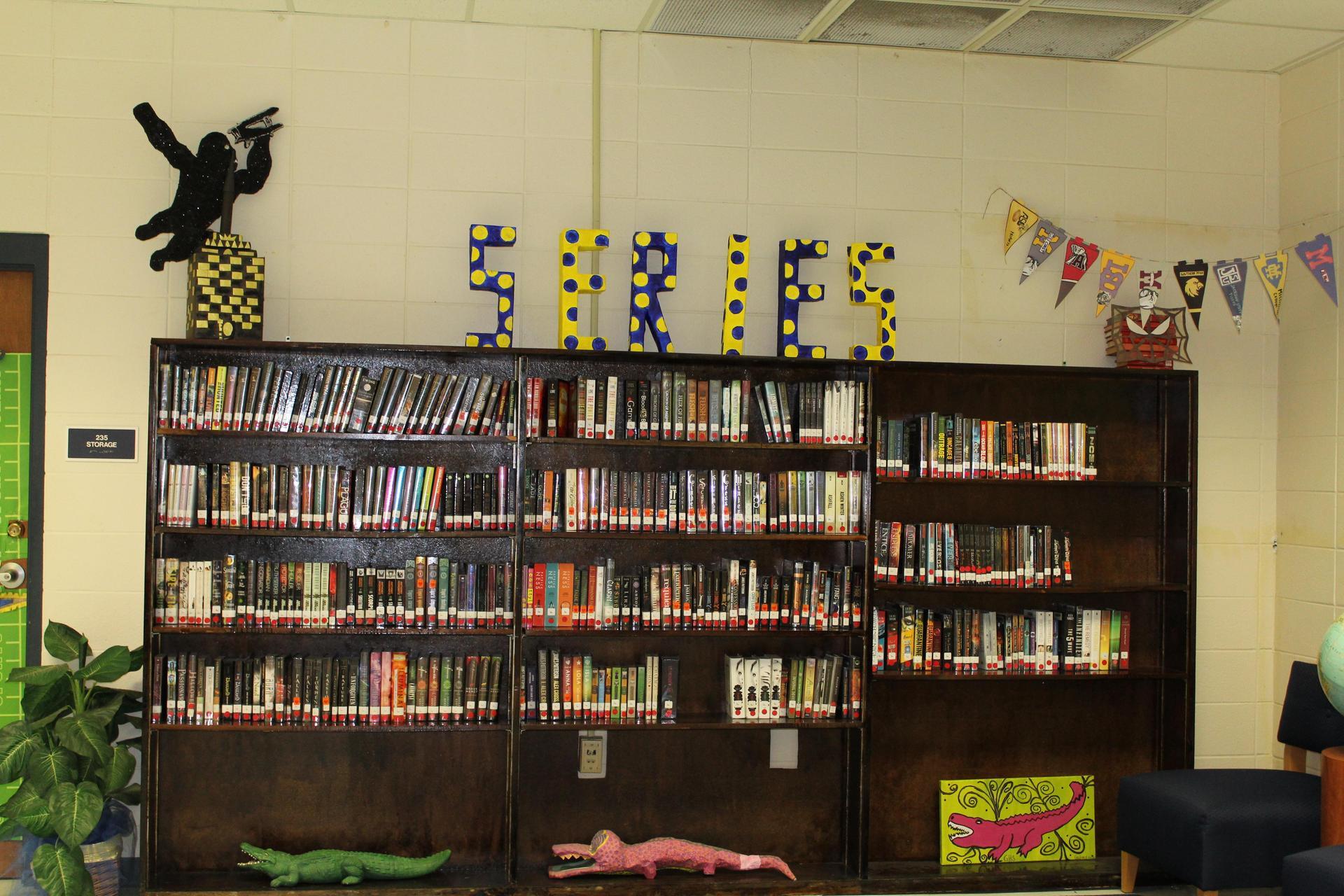 Series Book Display  at GHS