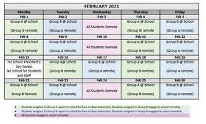 February Hybrid Calendar