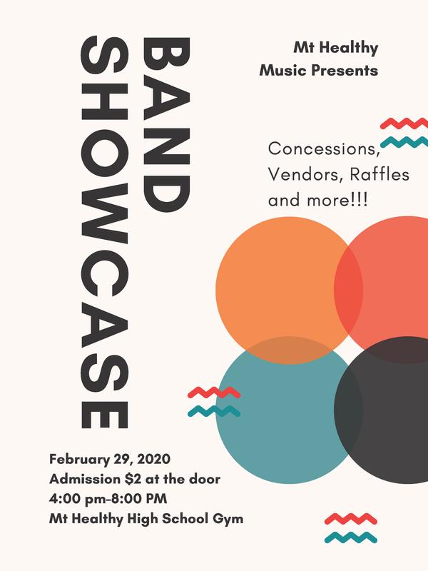 band showcase flyer
