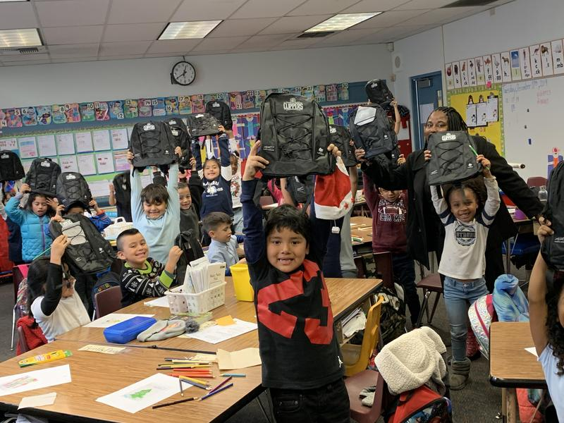 LA Clippers Donate Nearly 14,000 New Backpacks to Lynwood Unified Students Featured Photo