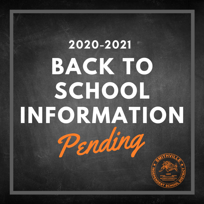 Back to School Information: Pending