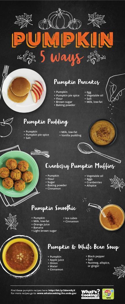 pumpkin 5 ways