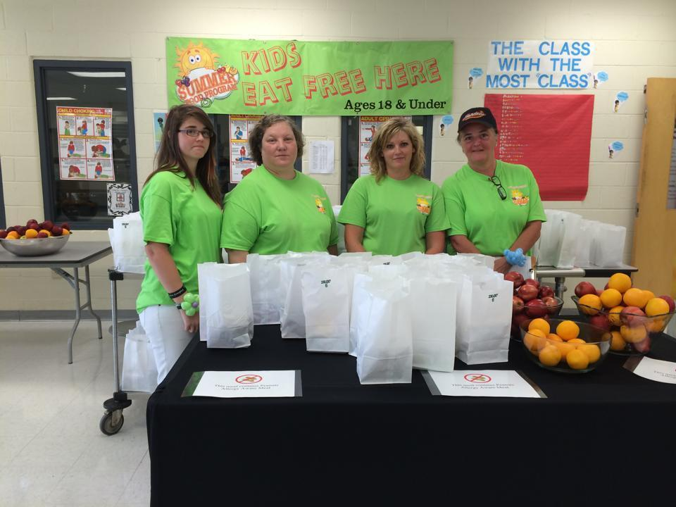 Each student receives a bagged meal thanks to our Nutrition Department.