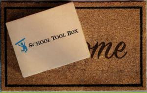 School Tool Box on Welcome mat