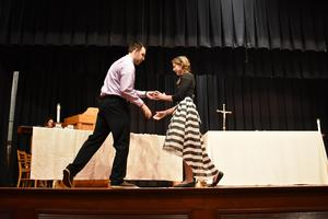 Lillian Chabala '20 receiving her class ring