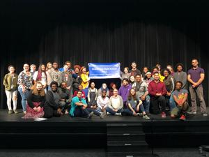Theatre Students Earning Blue Star Award