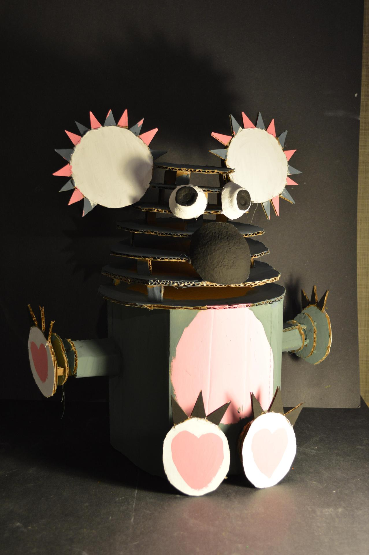 Cardboard Sculpture by Lily Bare