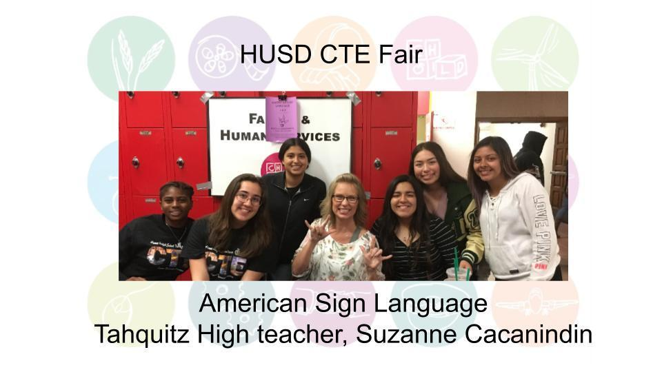 American Sign Language Tahquitz High teacher, Suzanne Cacanindin