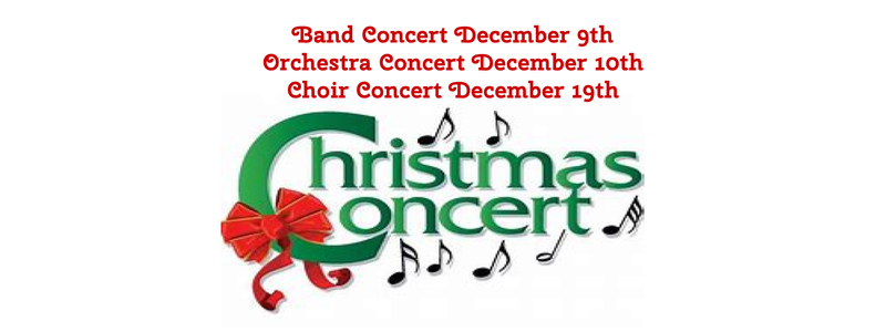 Band, Orchestra and Choir Concert Dates