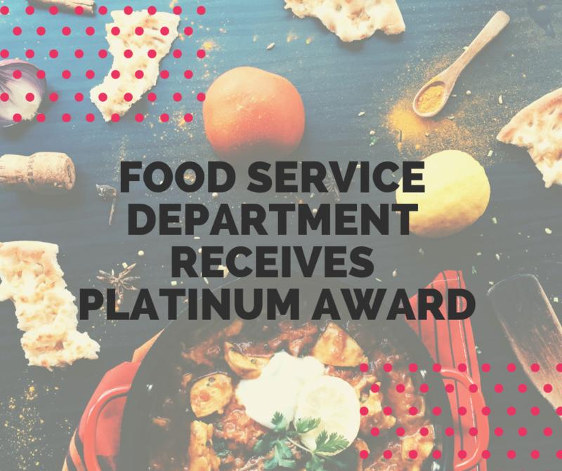 Food Service Department Receives Platinum Award Featured Photo