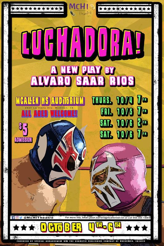 Luchadora Theatre Poster