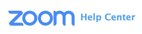 Zoom Help Center link button