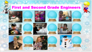 Collage of students with challenge projects