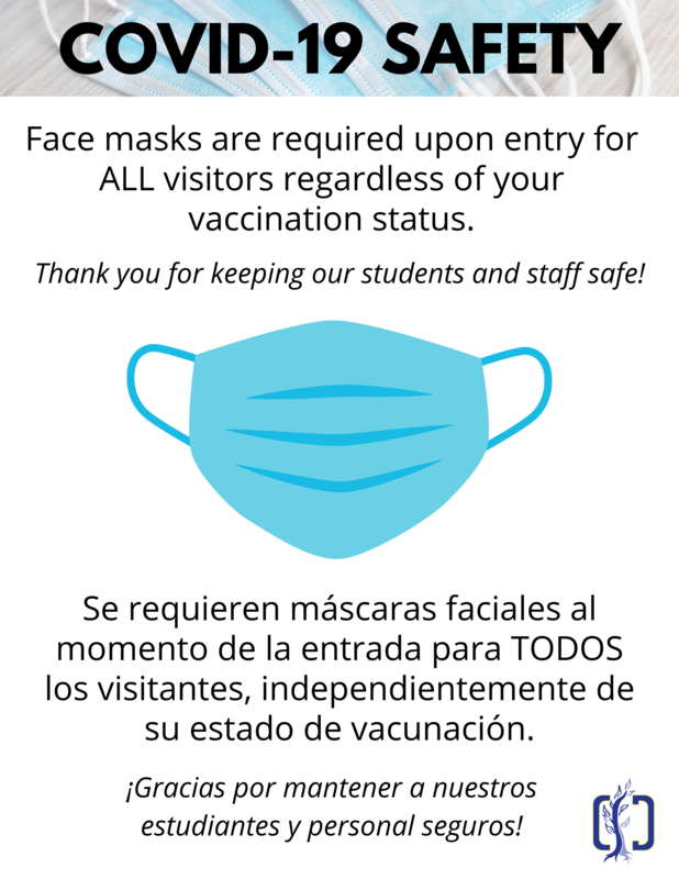 image of mask with information about requirements
