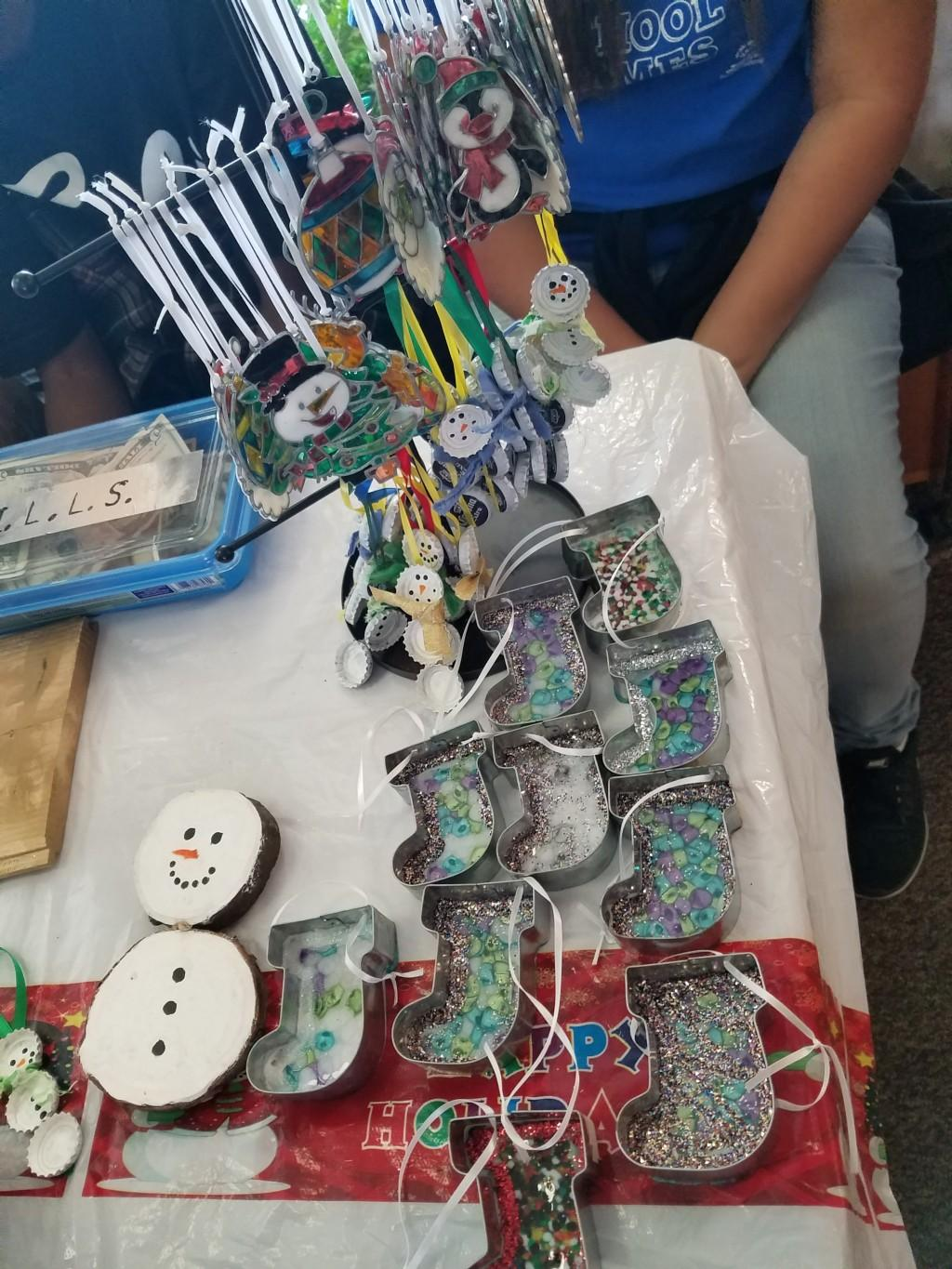Various crafts made by students.