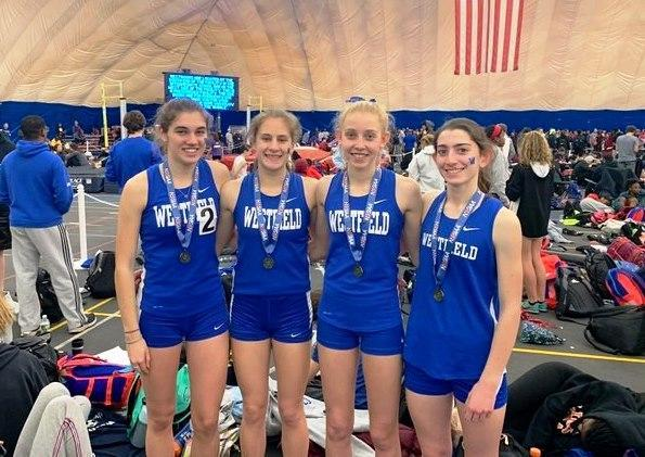 Blue Devil Girls 4x800 Relay Wins the Group IV State Relay Event...Collins, DiSarno, Boufarah and Hamilton