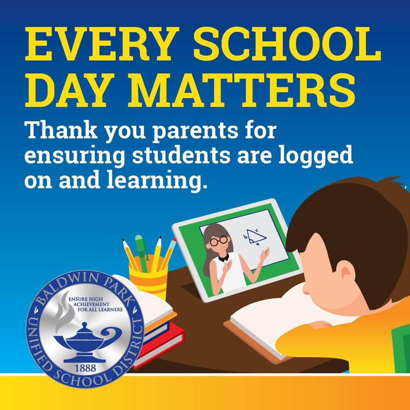 Baldwin Park Unified has designated September as Attendance Awareness Month.