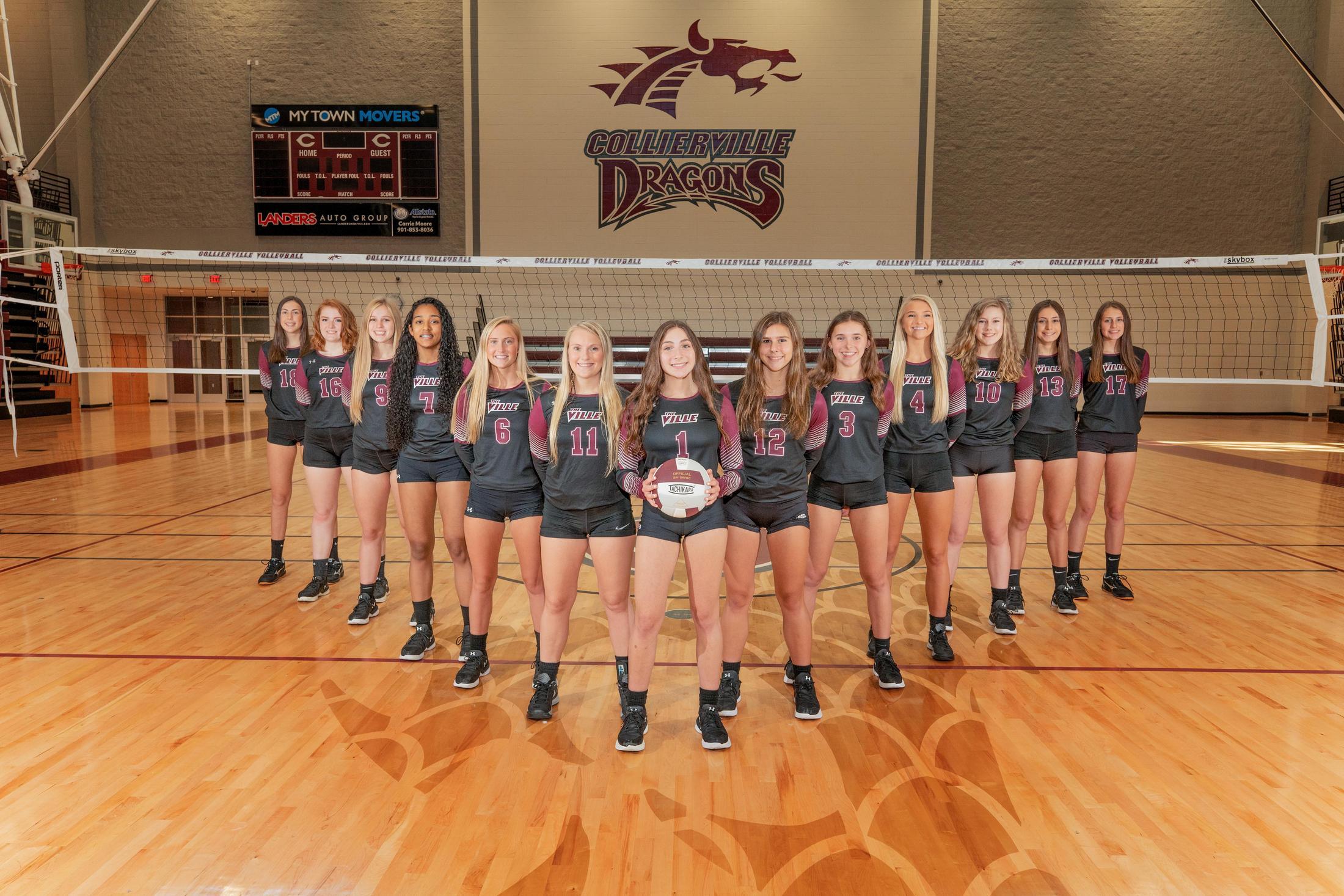 Varsity Roster Girls Volleyball Collierville High School