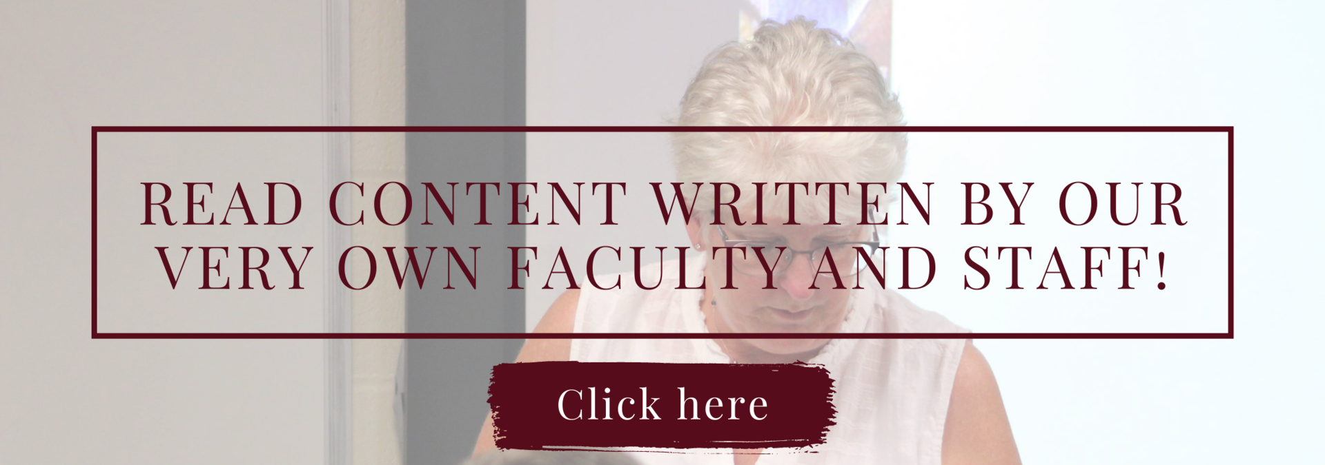 Read content written by our very own faculty and staff!