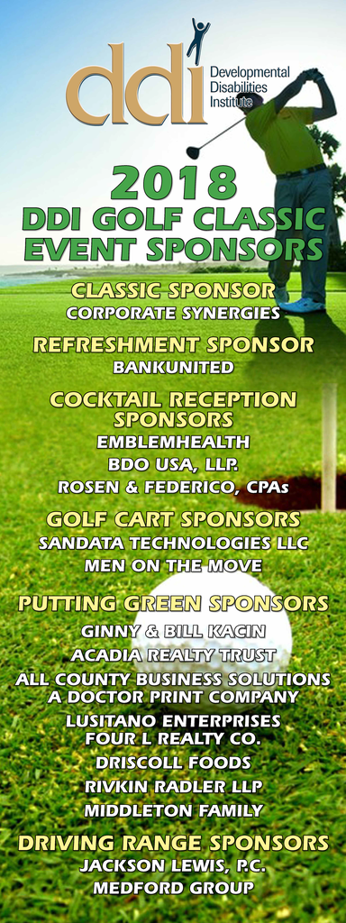 DDI's Golf Classic Event Sponsors