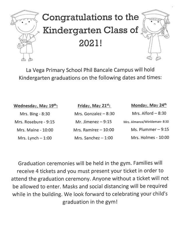 Kindergarten Graduation Times Thumbnail Image