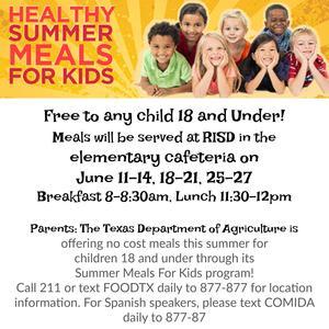 Information on summer meal program